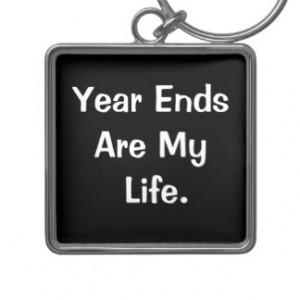 Financial Year End Motivational Accounting Quote Key Chain
