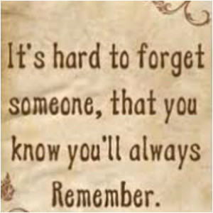 Remembering someone special