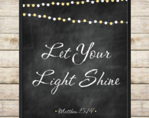 ... Bible Verse Scripture Inspirational Quote Chalkboard String Lights