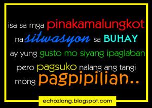 Tagalog Quotes SA Buhay