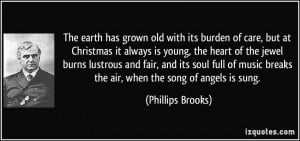 its burden of care, but at Christmas it always is young, the heart ...