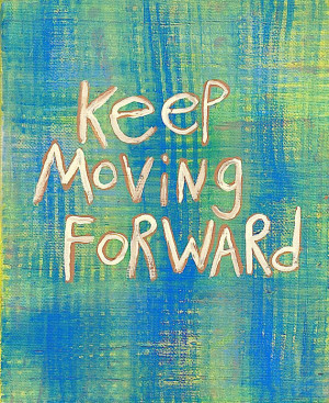 Original Word Art Painting Move Forward quote on Canvas