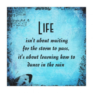 Inspirational Life Dance Quote Canvas Print
