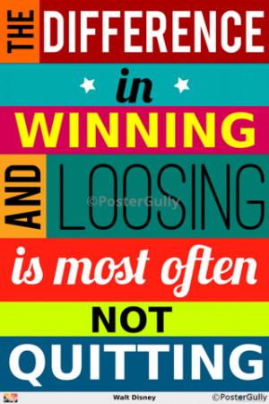 Not Quitting | Walt Disney Quote