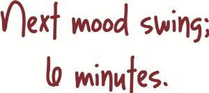 Next mood swing 6 Minutes - Funny Lettering Quote - Girl Bedroom OR ...