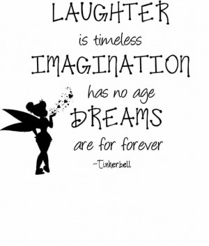Tinkerbell Wall Quote - Peter Pan Vinyl Decal / Sticker - 22