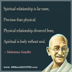 Spiritual Relationship Is Far