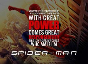 Similar Galleries: Spiderman Quotes Tumblr , Spiderman Quotes ,