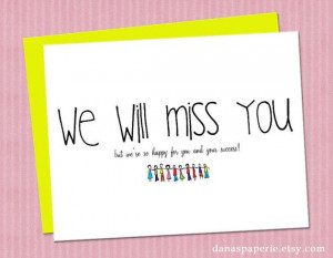 We will miss you card (perfect for the office going-away party!)