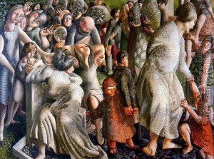 Stanley Spencer : The Resurrection, Reunion Of Families