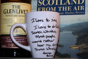LSWs-Famous Whiskey Quotes-George Burns- Coffee Mugs