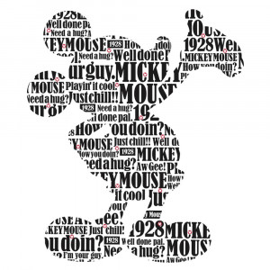 Mickey Mouse Quotes Typography mickey mouse peel