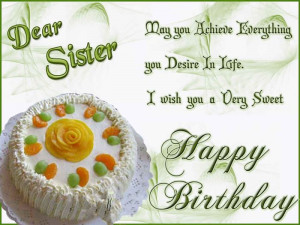 ... To A Sister - Meaningful Happy Birthday Wishes For Sister On Facebook