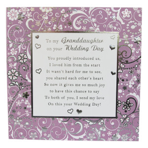My Granddaughter Card Large - 210mm x 210mm