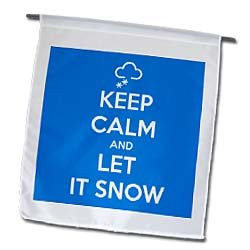 3dRose EvaDane - Funny Quotes - Keep calm and let it snow. Winter ...