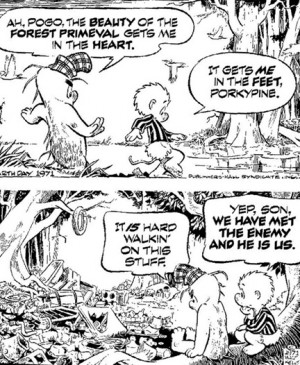 Above is Walt Kelly's famous