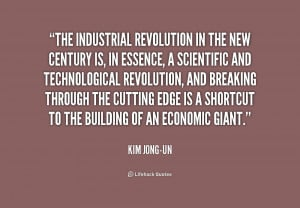 The industrial revolution in the new century is, in essence, a ...