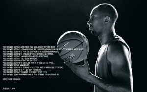 Nike Honors and Challenges Kobe Bryant in Inspirational New Ad Laker ...