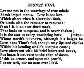Shakespeare Quotes Love Sonnets ~ Sonnet 116 | Love Quotes Romantic ??