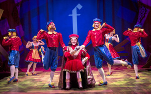 Travis Taylor, as the diminutive Lord Farquaad, sings of his perfect ...