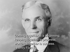 henry ford, best, quotes, sayings, success, teamwork, progress More