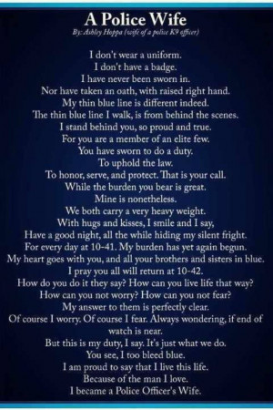 Police Officer Wife Quotes | That's my man for that I am a