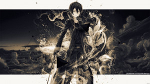 Dark Kirito - Sword Art Online Wallpaper (1920x1080)