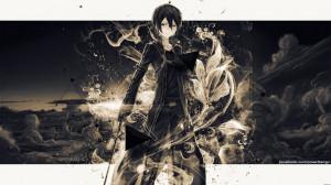 Dark Kirito - Sword Art Online Wallpaper (1920x1080)