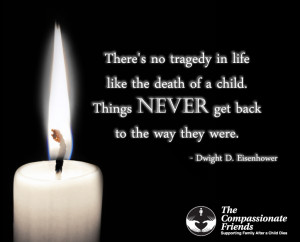 Grief support after the death of a child