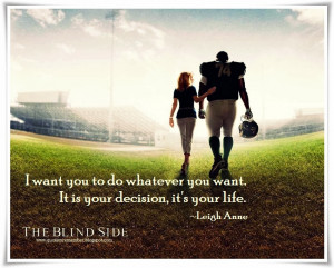 Quote to Remember: THE BLIND SIDE [