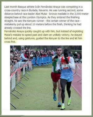 Sportsmanship and integrity.