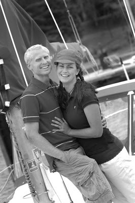 Photographed Meagan & Nathan's engagement session on our sailboat ...