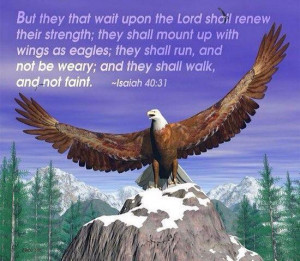 Bible verses and eagles