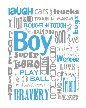 New Baby Boy Quotes All boy subway art for nursery