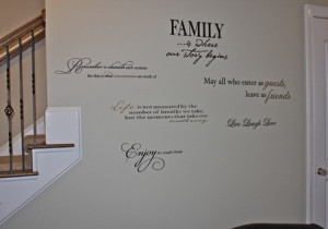 Beautiful-Family-Quotes-Wall-Stickers-Decals-in-Small-Living-Room ...