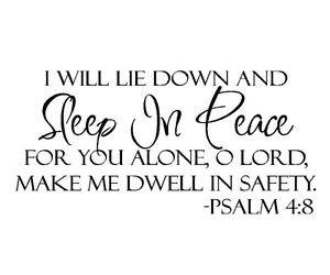 Sleep-In-Peace-Bible-Verse-Decor-vinyl-wall-art-decal-quote-sticker ...