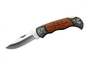 Engraved Quote on Rosewood Pocket Knife Gift Personalized Engraved ...