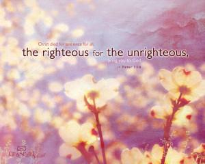 Peter 3.18 Bible Verse