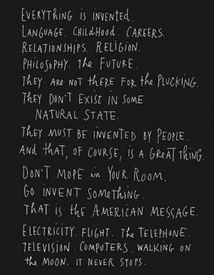 great quote from maira kalman via sfgirlbybay