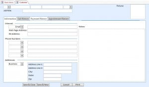 Microsoft Access Mowing Lawn Care Database/Template