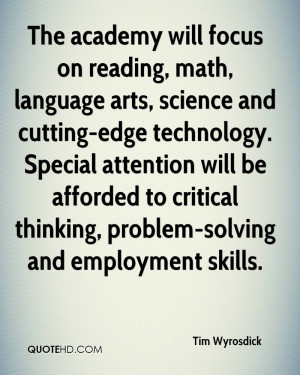 The academy will focus on reading, math, language arts, science and ...