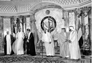 al khalifa with kuwait s prime minister sheikh jaber al mubarak al