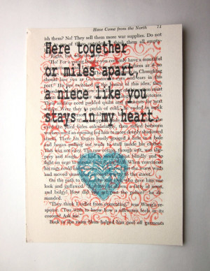 Niece quote, saying, poem, print on a book page. $8.25, via Etsy.
