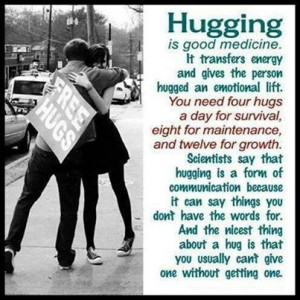 simple hug says it all Have some huggin' and lovin' today!