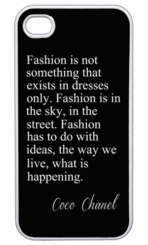 Fashion Quote Coco Chanel iPhone Case (http://www.wordon.com.au ...