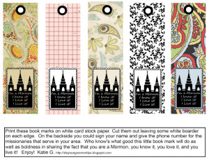 These bookmarks are to share with friends. Print on white cardstock.