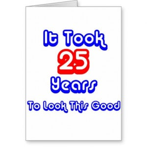 Funny 25th Birthday Cards