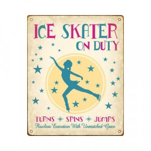 Ice Skater On Duty - Skating Sign (Female): This is so cute!