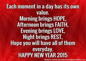 New Year Inspirational Quotes 2015