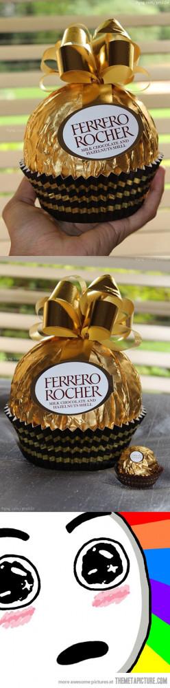 Funny photos funny big ferrero rocher chocolate